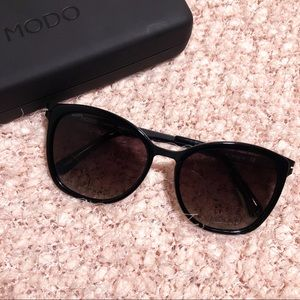 Modo | Titanium Black Cat Eye Sunglasses